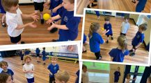 PE throwing and catching