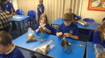 Making stone age dwellings