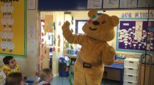 Pudsey visits Emerald class